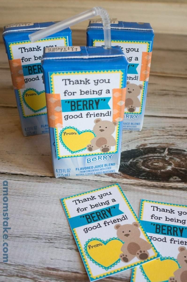 Berry Juice Box Valentine Printable Cards A Moms Take