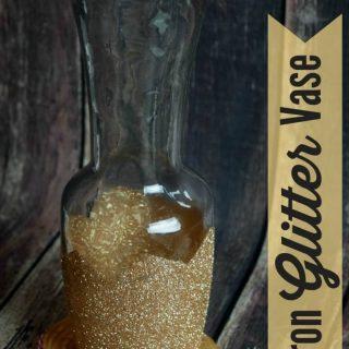 DIY Gold Glitter Chevron Vase
