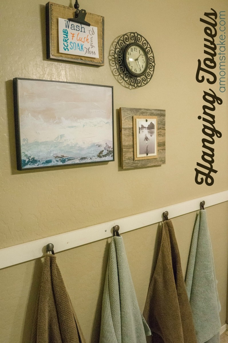 DIY Hanging Bathroom Towels