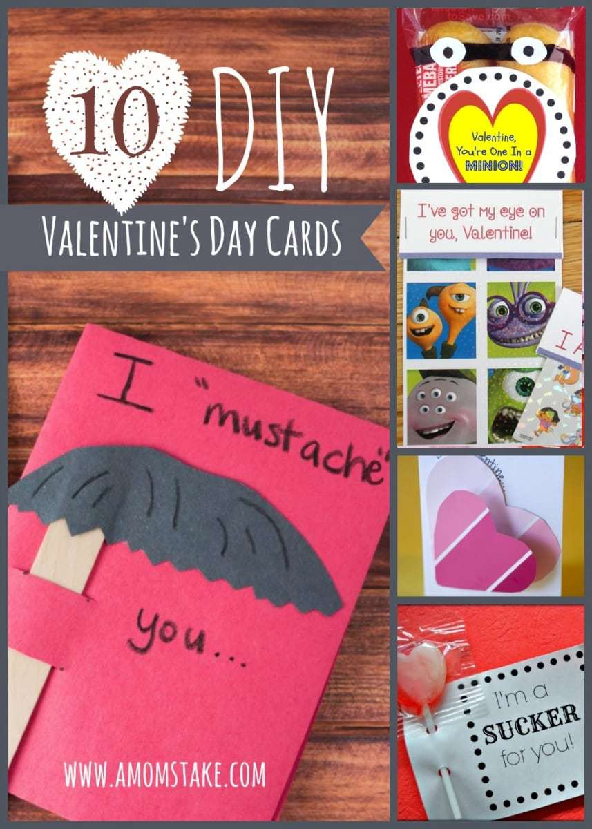 10 DIY Valentine's Day Cards - A Mom's Take