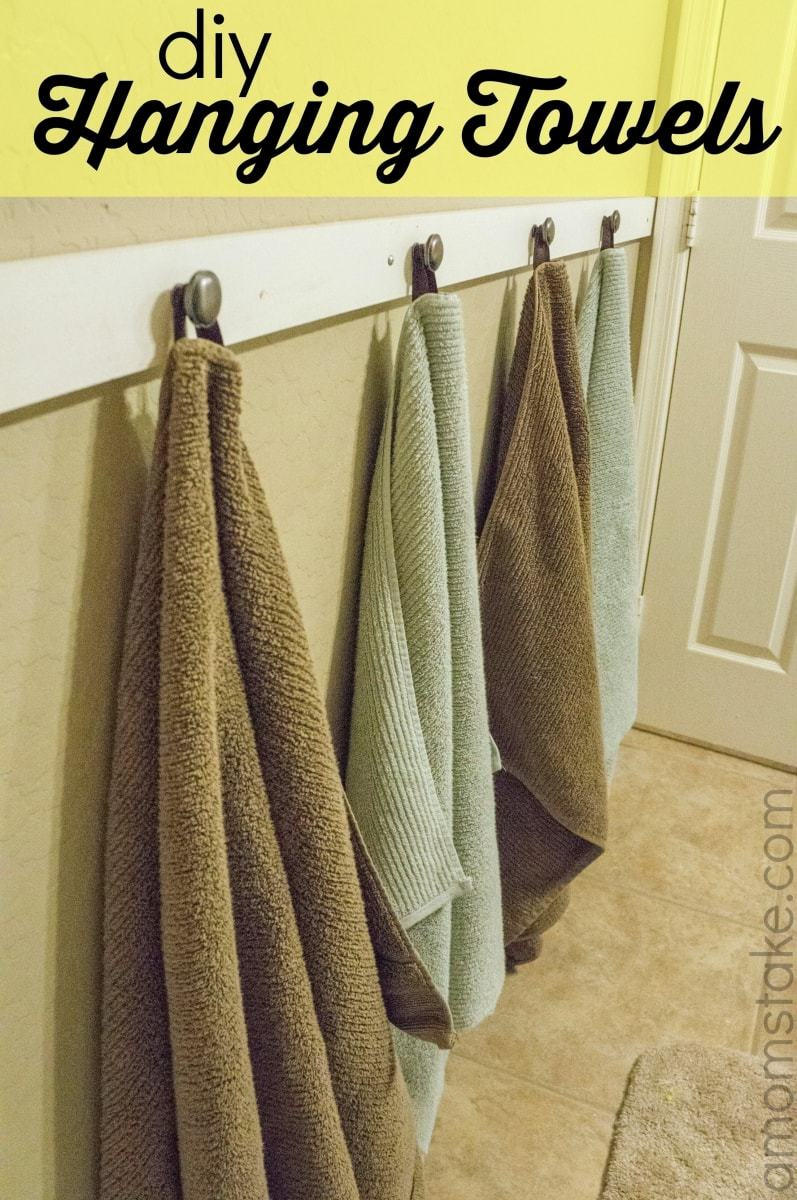DIY Hanging Towels Tutorial