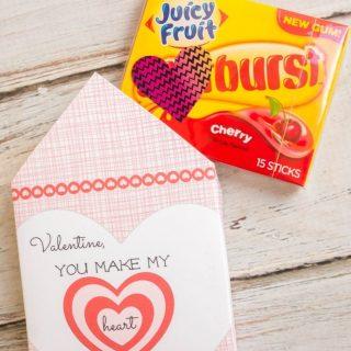 Heart Burst Printable Valentine Envelopes