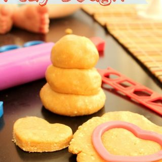 4 Ingredient Edible Play Dough