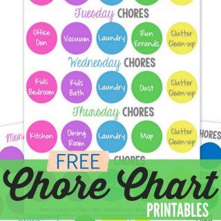 Weekly Chore Chart Printable