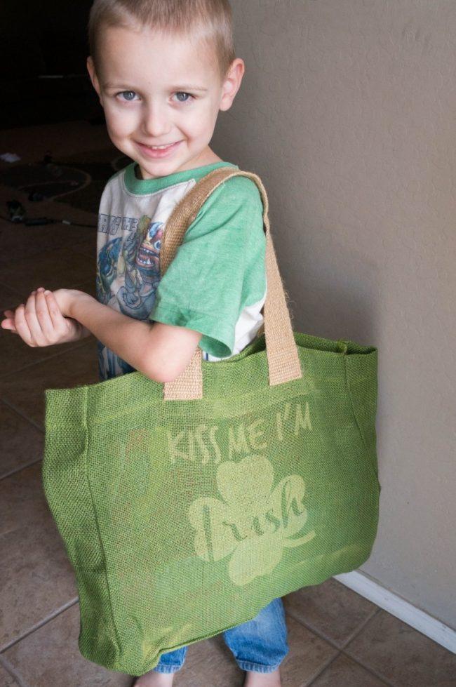 Kiss Me I'm Irish Bag