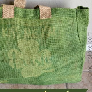 Kiss Me I'm Irish – DIY Burlap Bag