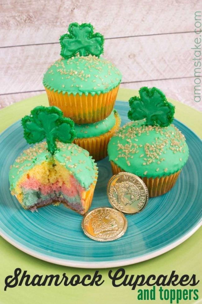 Rainbow Cupcakes for St Patrick's Day
