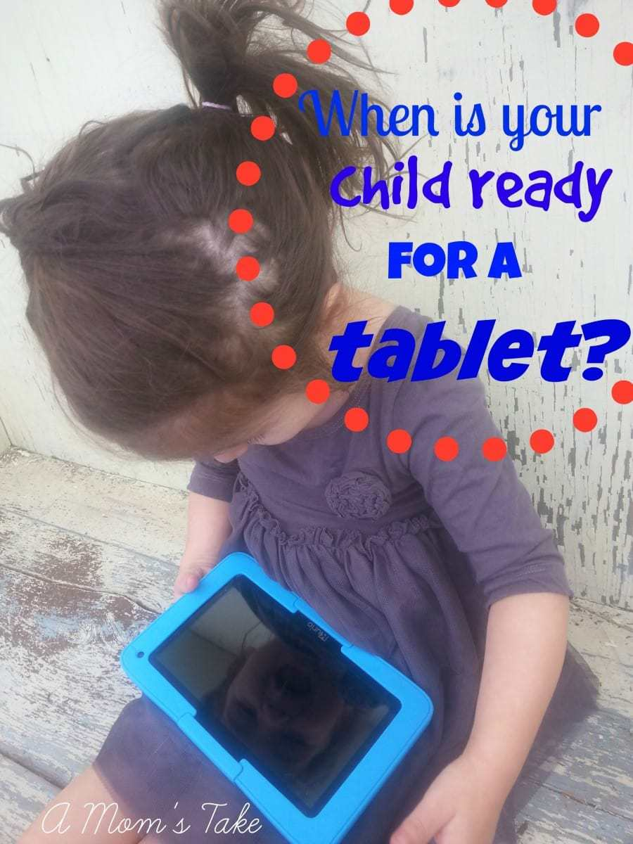 Child ready for a tablet