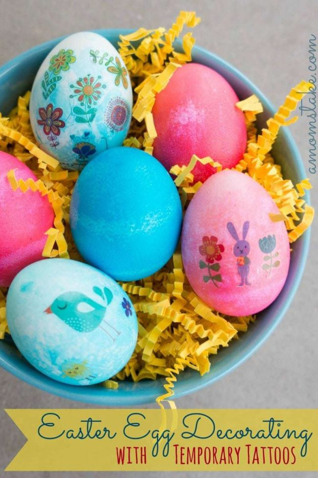 Decorate Easter Eggs with Temporary Tattoos