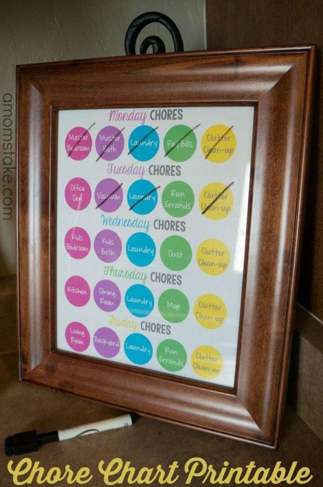 Weekly Chore Printable