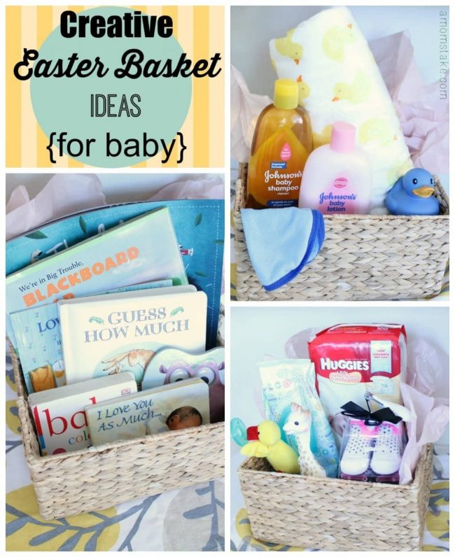 Creative easter basket ideas for baby a moms take easter basket ideas negle Image collections