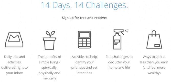 simple living challenge
