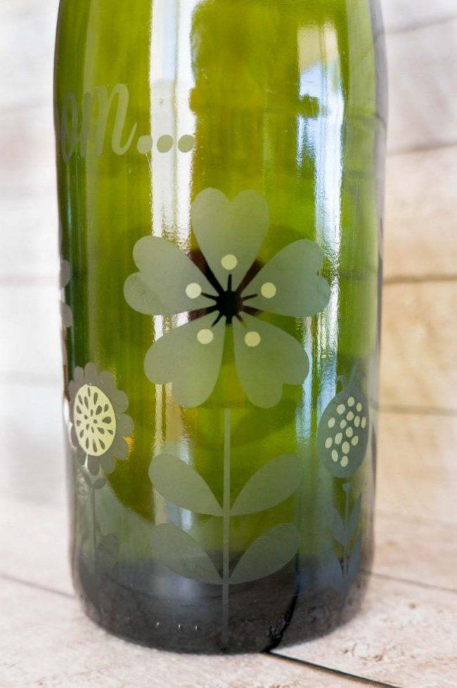 Etch Glass Bottle