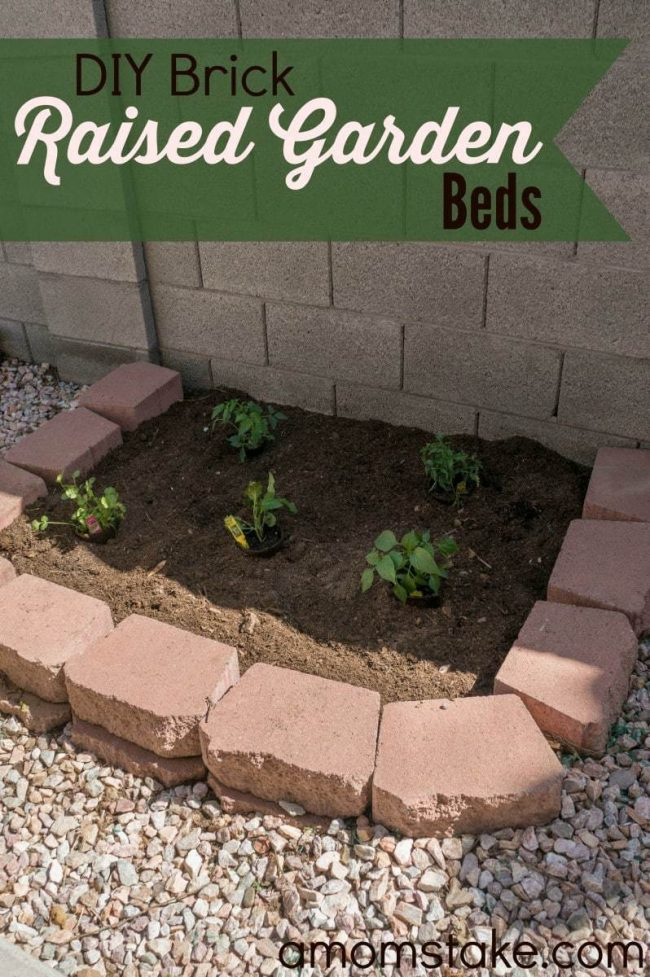 diy brick raised garden beds a mom s take