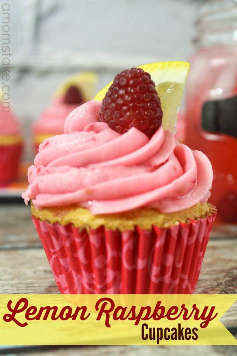 Homemade Lemon Raspberry Cupcakes Recipe - A Mom's Take