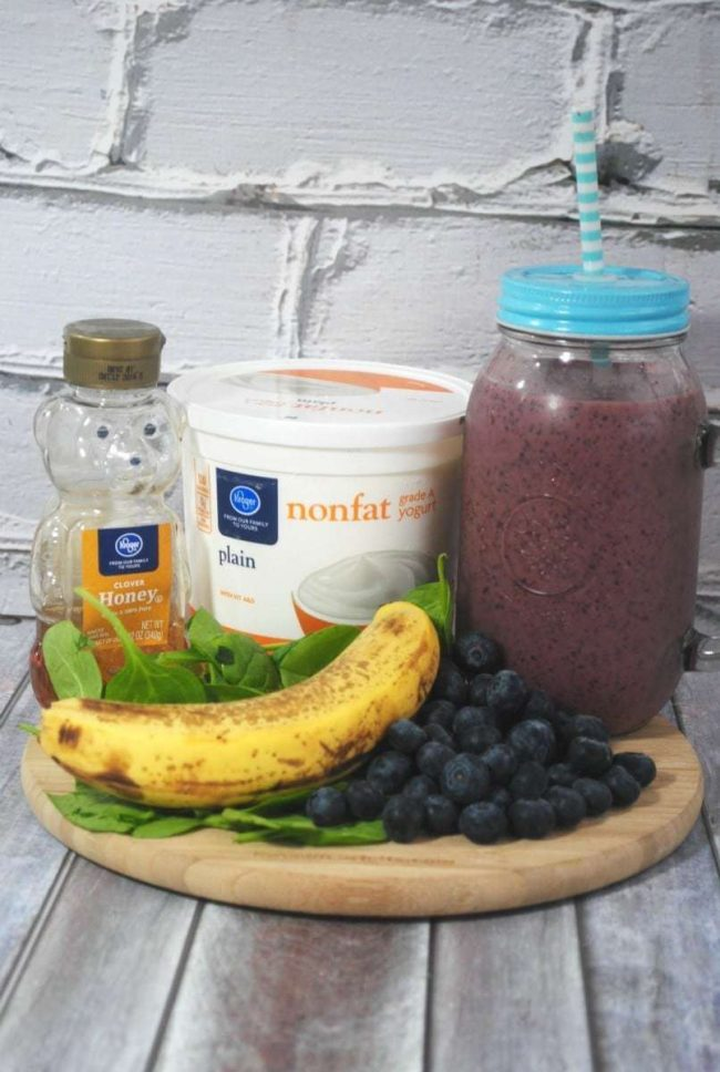 Blueberry Yogurt Smoothie 1 V