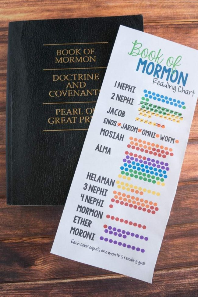 printable Book of Mormon Reading Chart