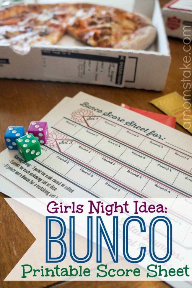 picture about Cute Bunco Score Sheets Printable known as Females Night time + Printable Bunco Rating Sheets! - A Mothers Acquire
