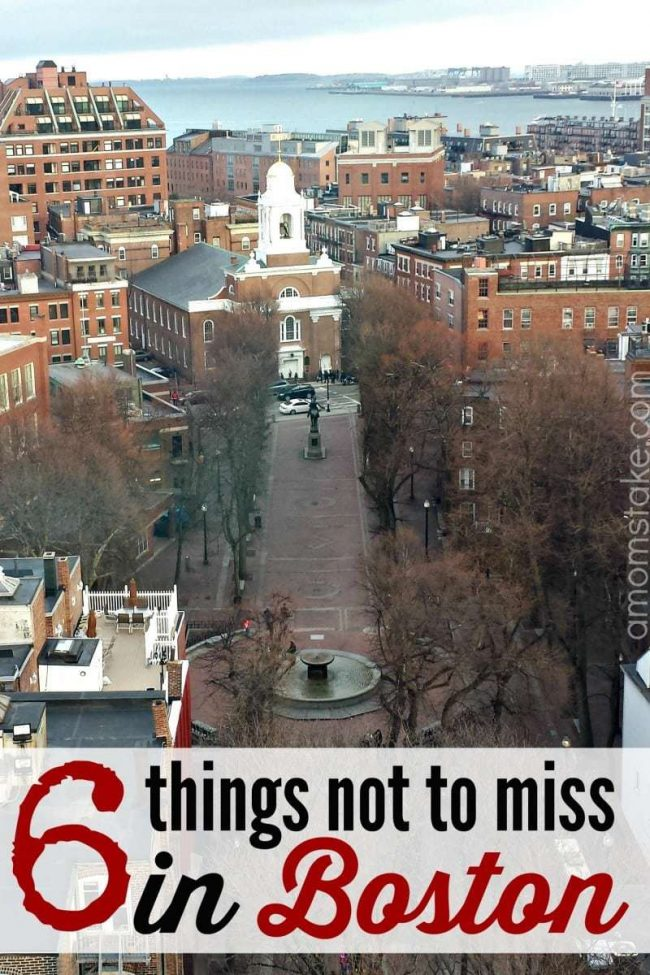 Things not to miss in Boston