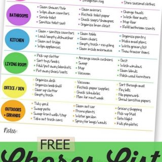 Printable Household Chores List