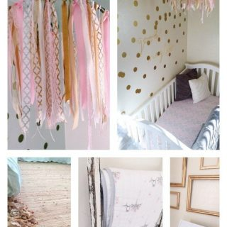 Pink and Gold Nursery Ideas