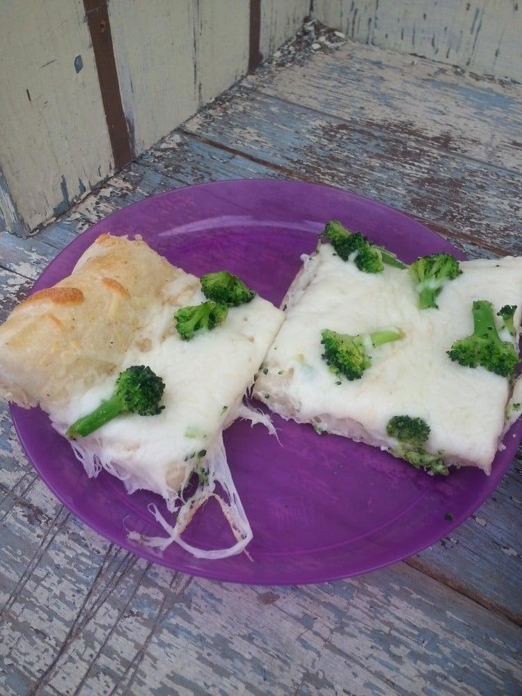 Inside Out Broccoli Pizza