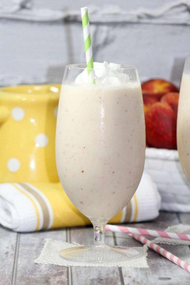 Peach milkshake_