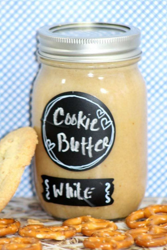White chocolate cookie butter