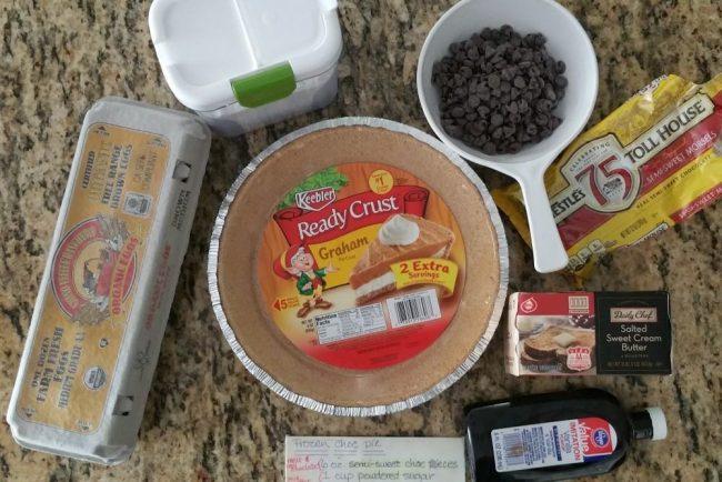 frozen chocolate pie ingredients