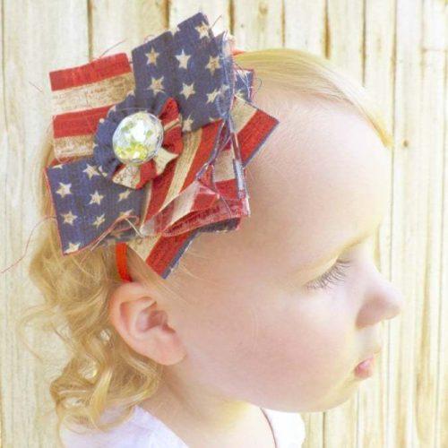 patriotic-patchwork-hair-bow