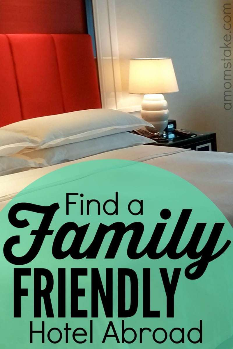 How to find a family friendly hotel abroad - what to look for and features you can find when traveling internationally as a family. #traveltips #familytravel #macau #hotel