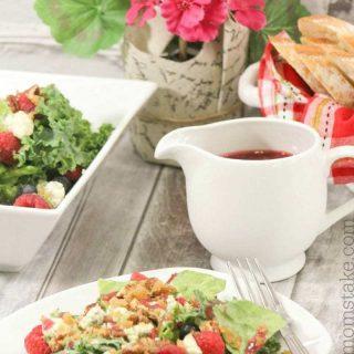 Raspberry Vinaigrette Dressing + Salad Recipe