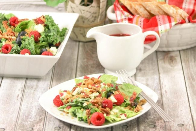 Raspberry Vinaigrette Salad_