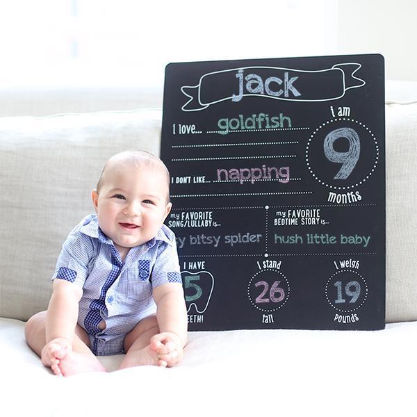 Baby & chalkboard