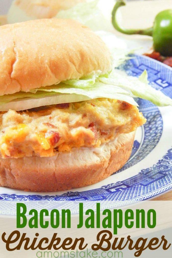 Chicken Bacon Jalapeno Burger
