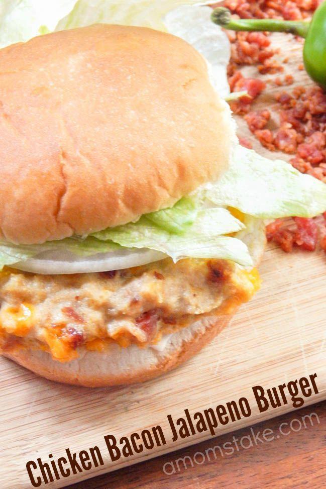 Chicken Bacon Jalapeno Burger Recipe