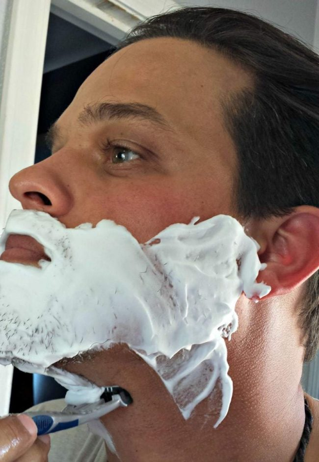 Men shave by Schick razors