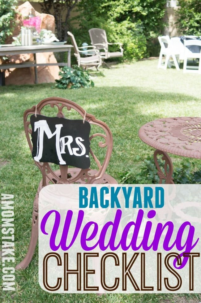 Diy backyard wedding checklist a moms take wedding checklist solutioingenieria Images