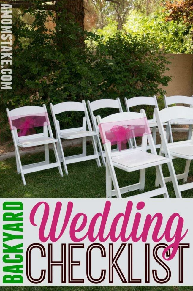DIY Backyard Wedding Checklist - A Mom\'s Take
