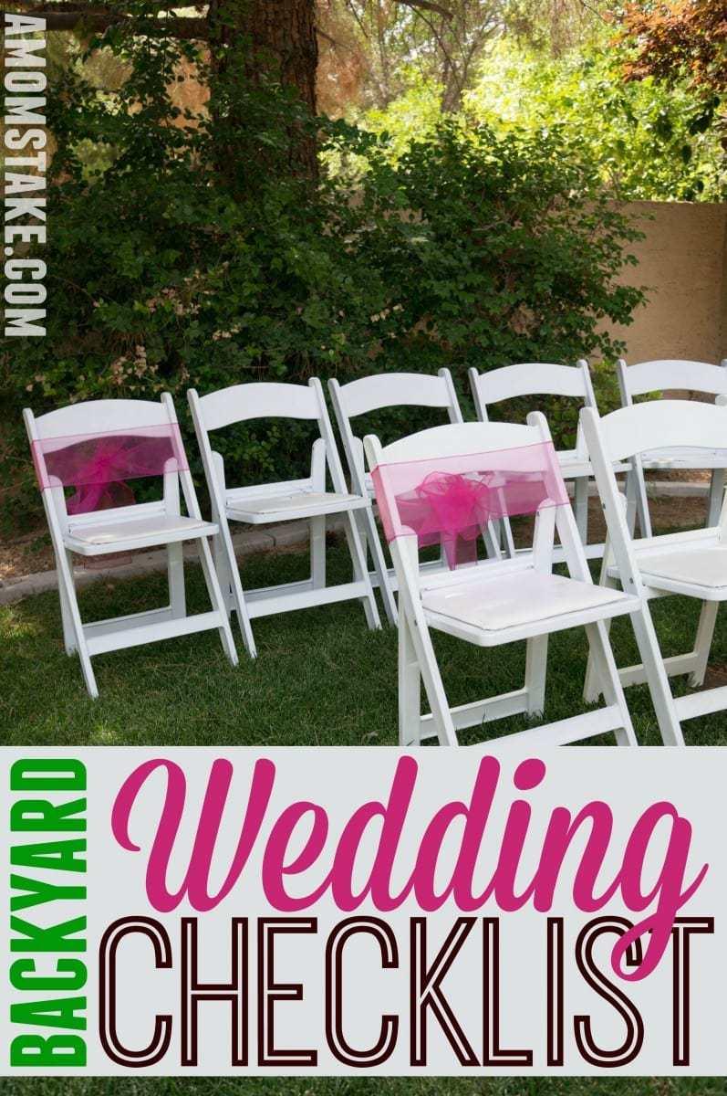 DIY Backyard Wedding Checklist - A Mom's Take