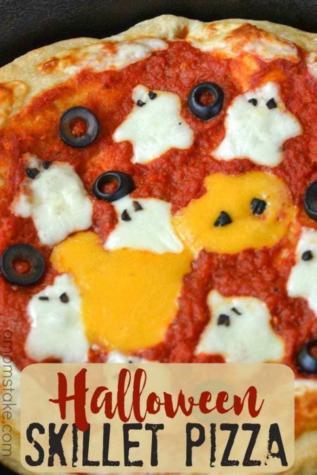 Halloween Ghosts Skillet Pizza