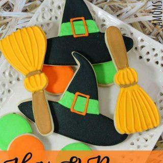 Witch Hats & Brooms Halloween Cookies