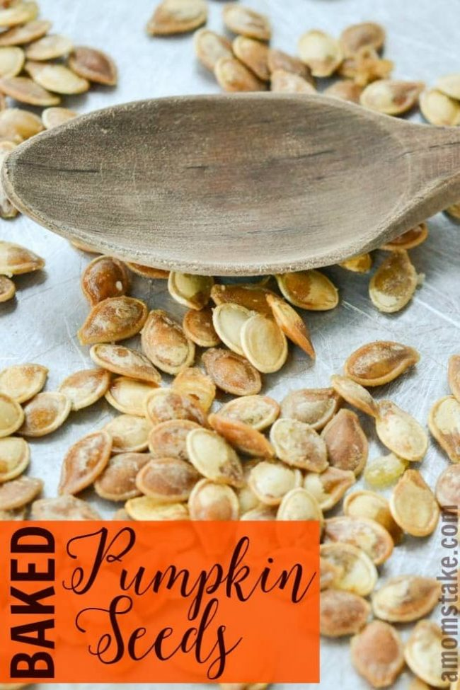 A yummy, easy fall snack - Baked Pumpkin Seeds Recipe!
