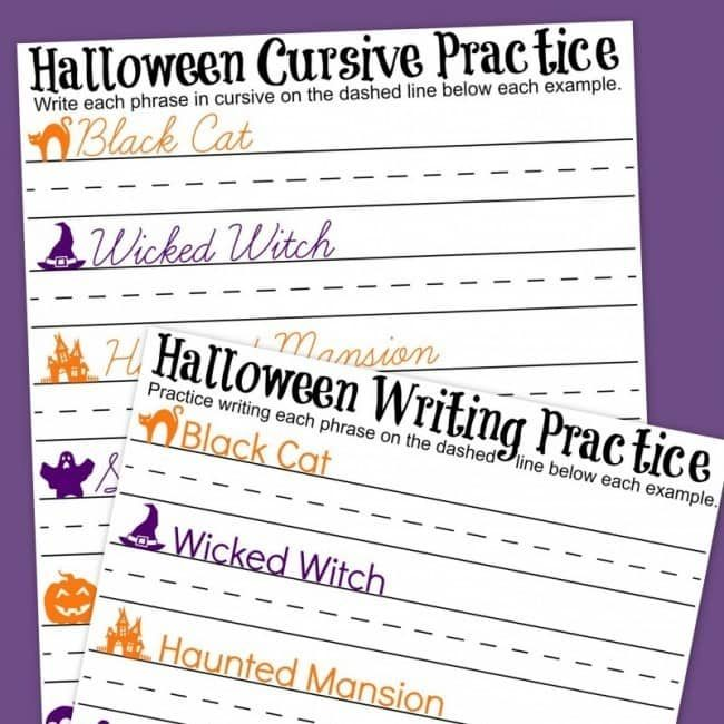 Halloween Writing Practice