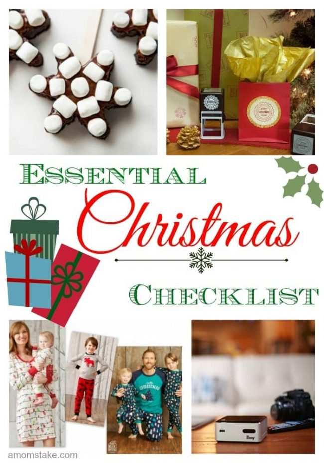 Christmas Essentials holiday gift guide checklist