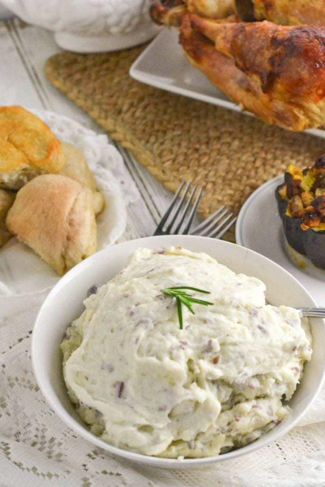 Yummy rosemary and garlic mashed potatoes recipe