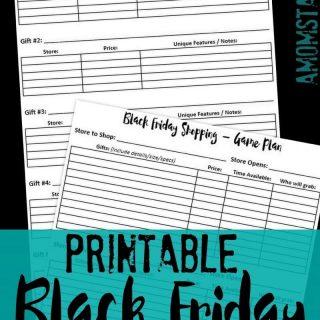 Printable Black Friday Shopping Game Plan!