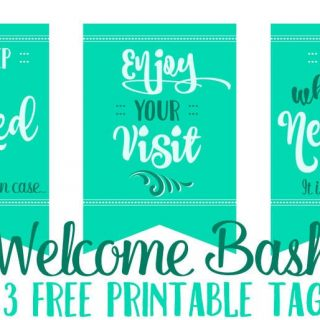 Easy Welcome Basket to Greet your Guests