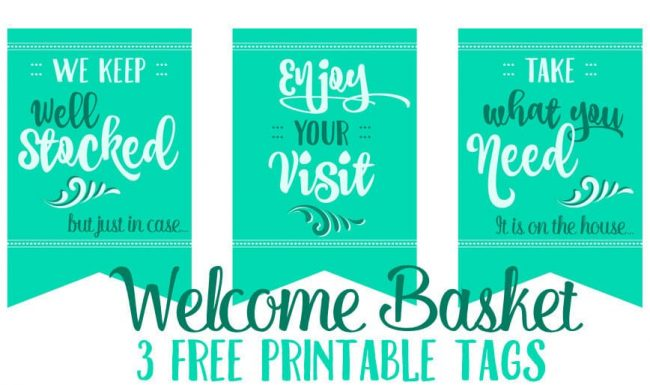 Grab these 3 free printable tags perfect to add to a welcome basket for out of town guests that visit for the holidays.