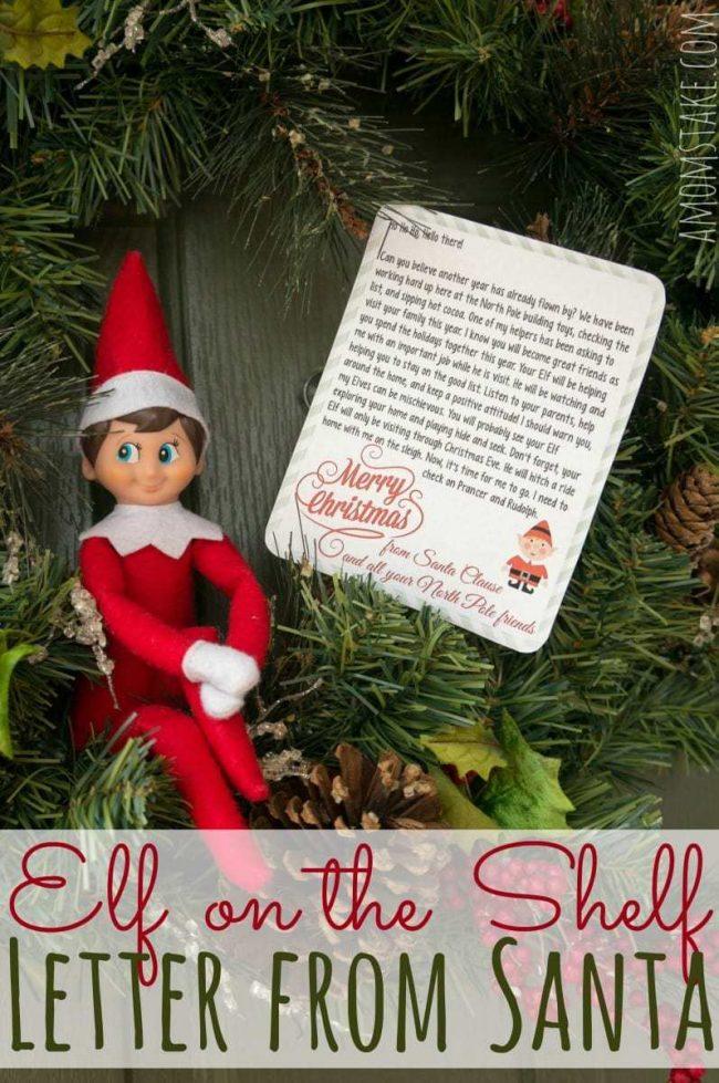 Elf on the Shelf Letter from Santa